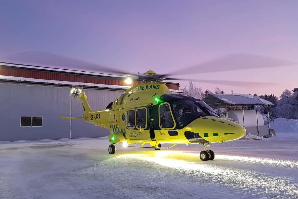 Länets nya ambulanshelikopter redo för uppdrag
