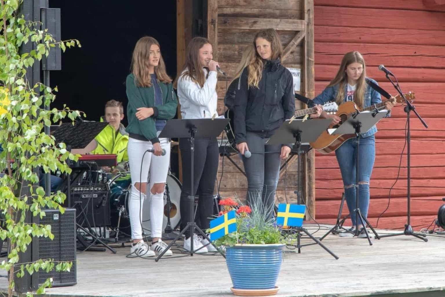 Kulturskolan bjöd på musik och sång. Foto: Morgan Grip