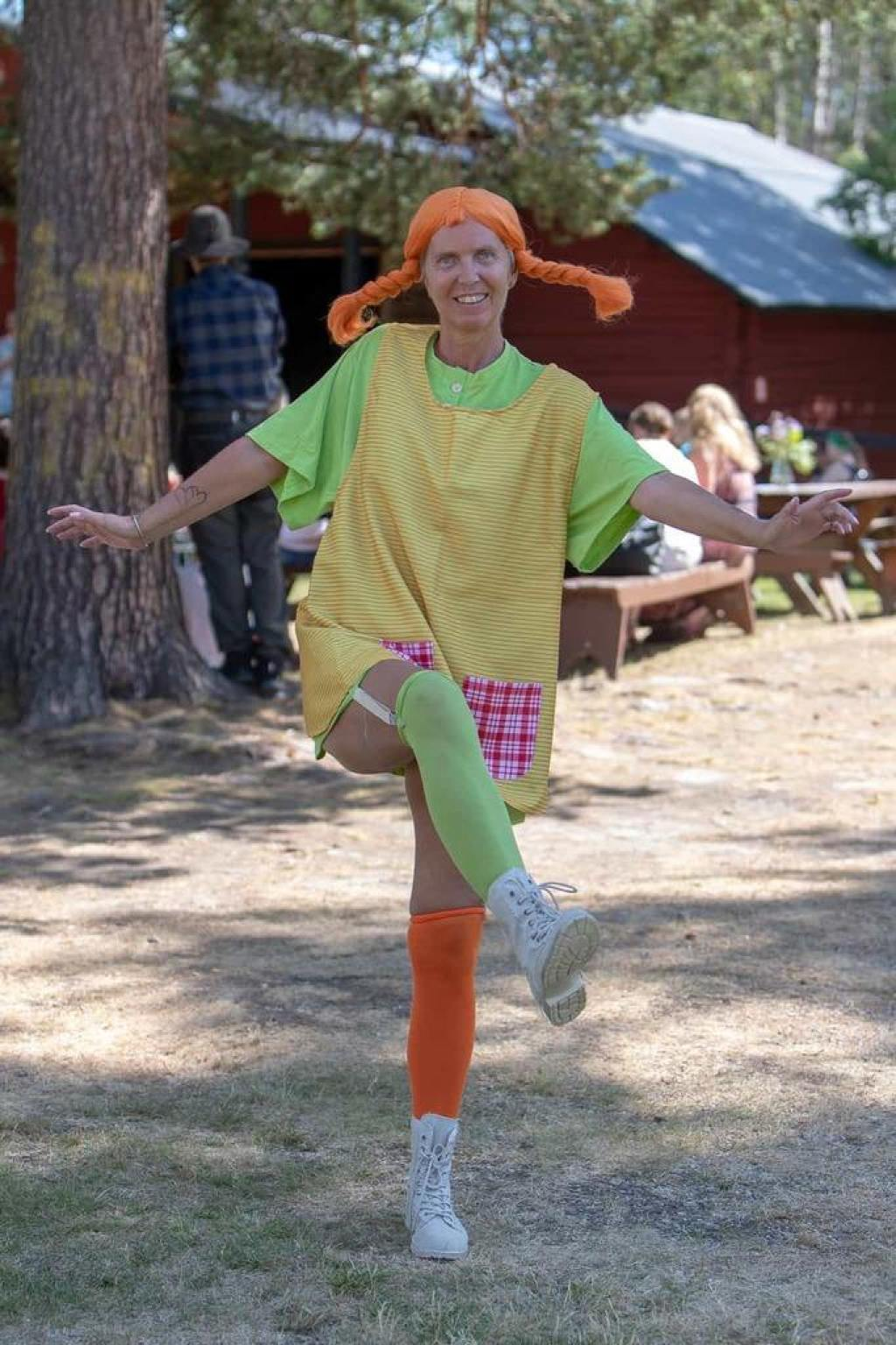 Pippi Långstrump, i form av Anna Westling, gladde framför allt de yngre besökarna. Foto: Morgan Grip