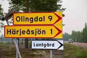 Strax efter midnatt hävdes evakueringsbeslutet i Olingdal, Olingsjövallen, Härjeåsjön, Västanå och Risbrunn. Foto: Morgan Grip