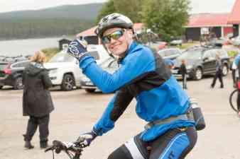 Skoteresset John Stenberg cyklade in på en åttondeplats i motionsklassen. Foto: Morgan Grip