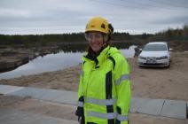 Dammsäkerhetsansvariga Sofie Wallström vid Fortum. Foto: Leif Eriksson