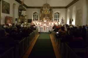 Luciastämning i Lillhärdals kyrka