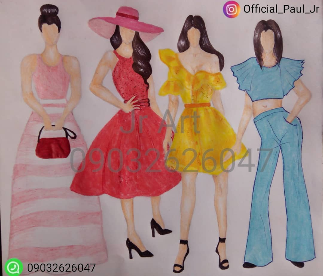 Fashion Illustrations by Paul Jr Ogbomo