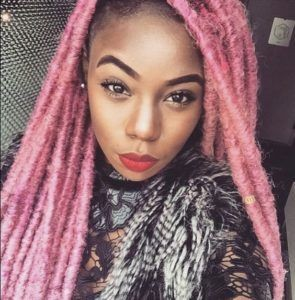 Pastel Yarn Braids hairstyles