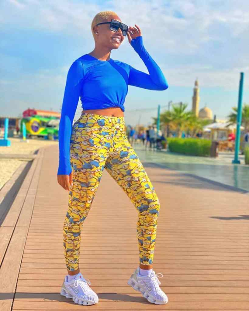 Nancy Isime rocking Athleisure outfit with sneakers - Fashion Trends that were Popular in the 2010s