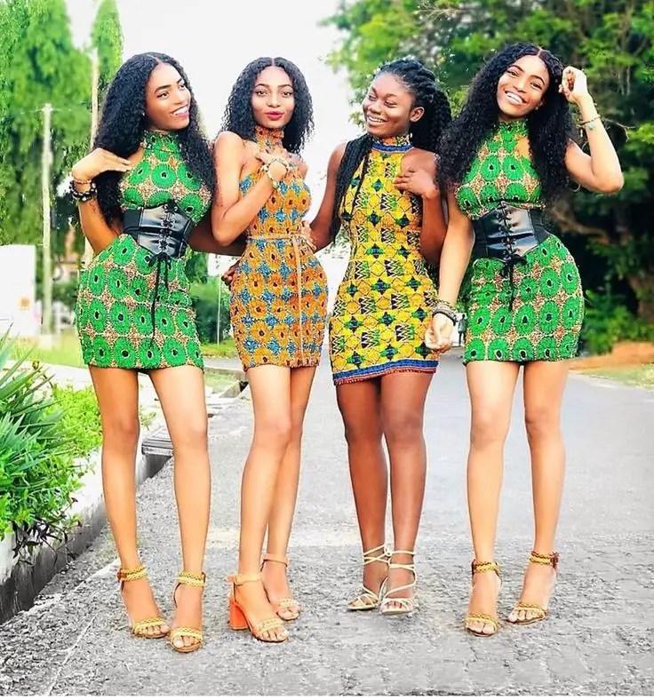 ankara short gowns