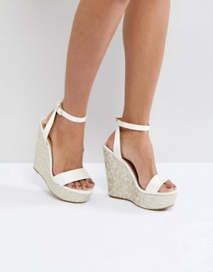 white wedge for brides - Types of Shoes for Women