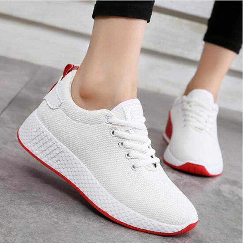 white sneakers - women's footwear