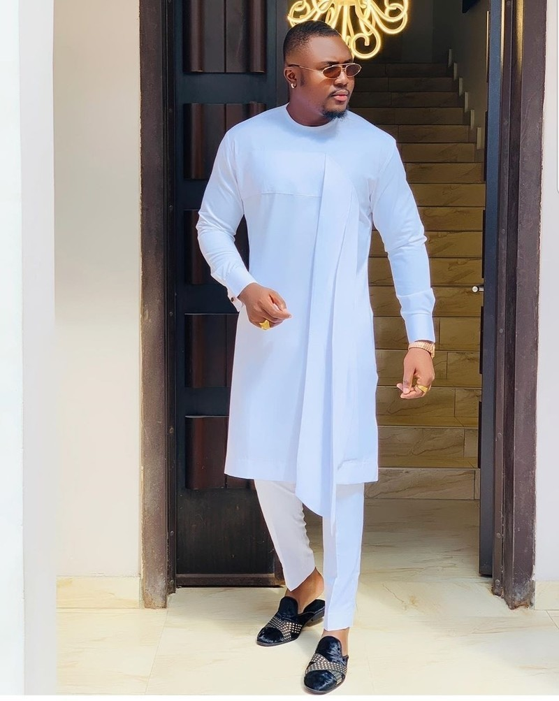 sky blue kaftan - Native Wears for Nigerian Men