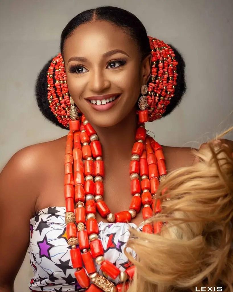 beautiful Igbo woman wearing coral beads