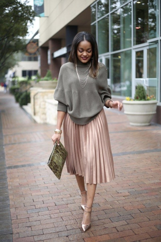 brown to on pleated skirt - 7 Stylish Ways to Rock a Midi Skirt