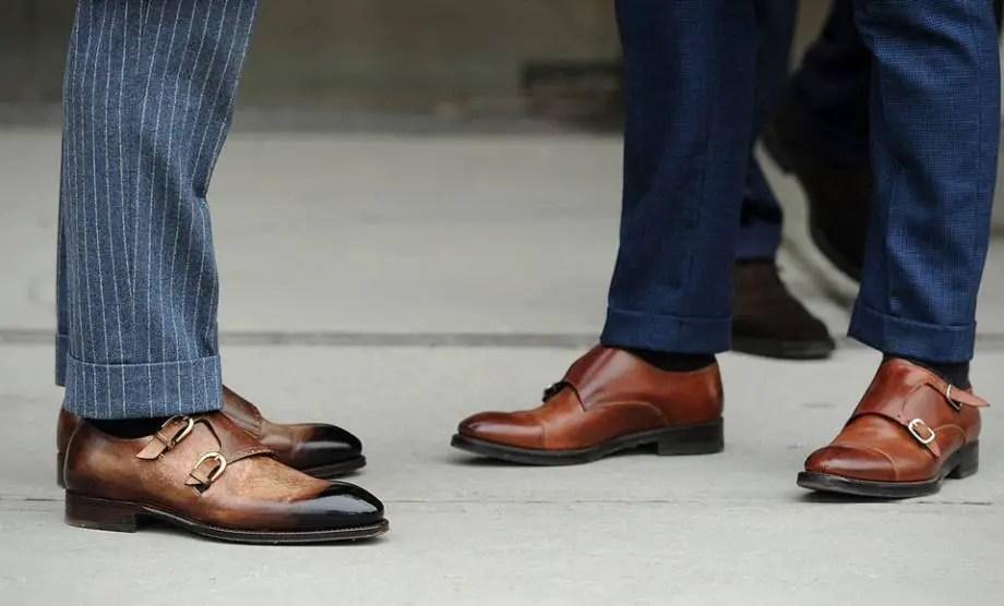 double monk shoes for men
