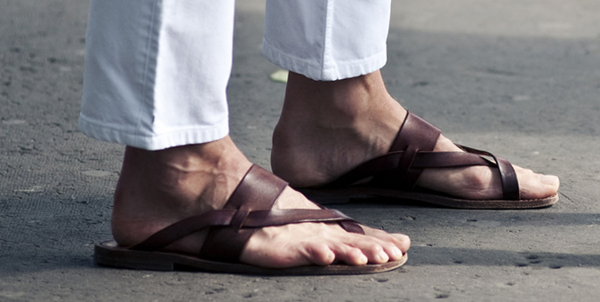palm slippers for men