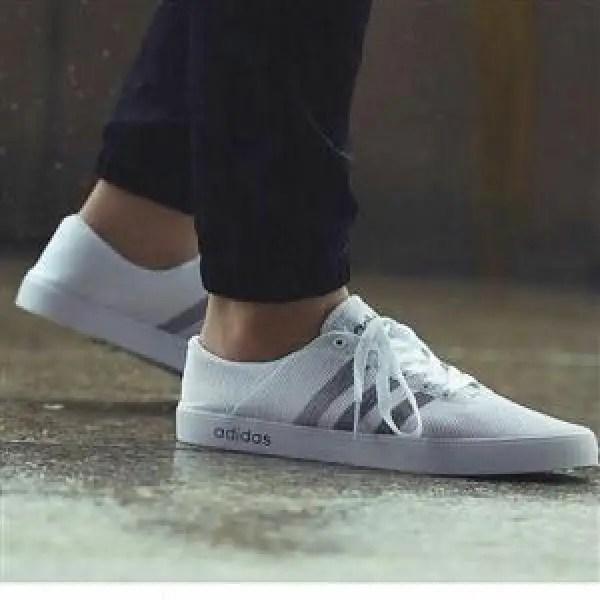 white Adidas canvas for men