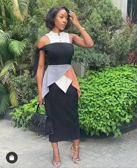 a stylish work wear by a beautiful lady