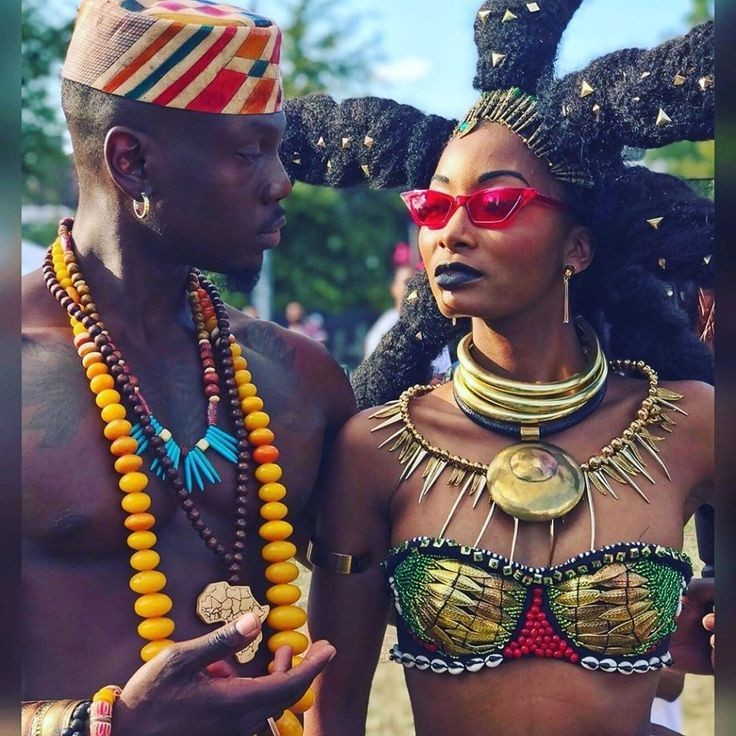 Afrocentric fashion styled couple