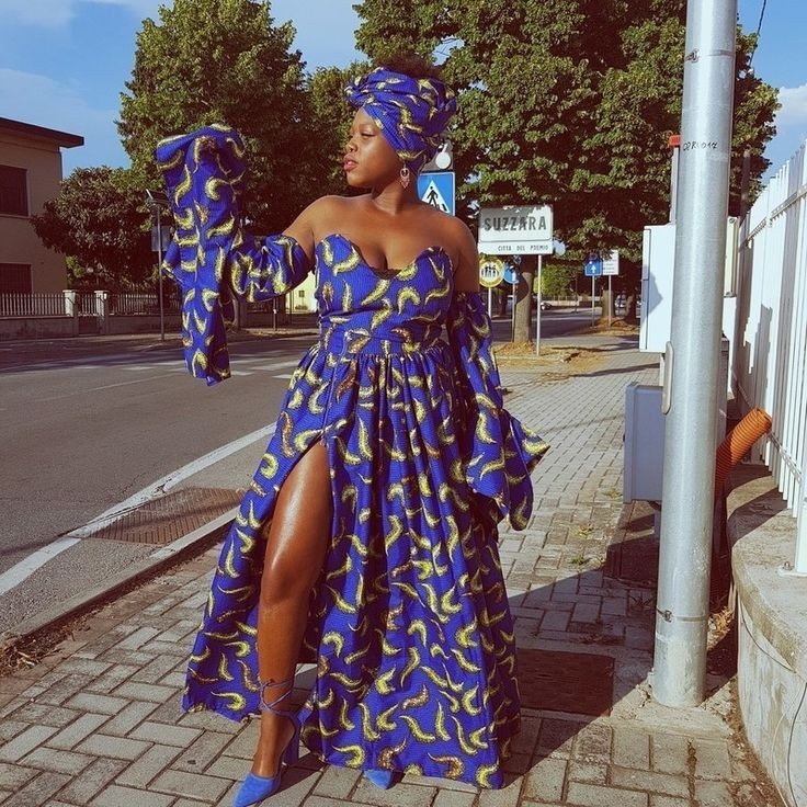 lady in ankara off shoulder dress - 3 Tips on How to Match Your Hairstyle With Your Outfit
