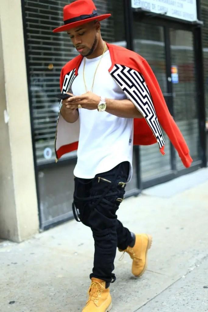 Black man in a urban fashion