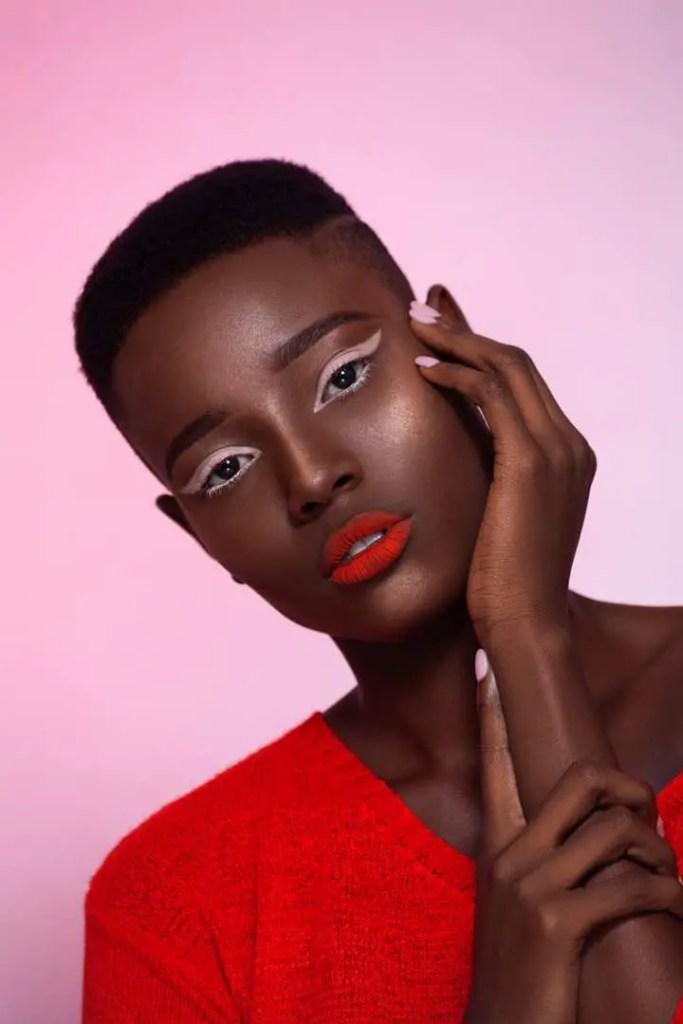Pages Model Management female model on make up