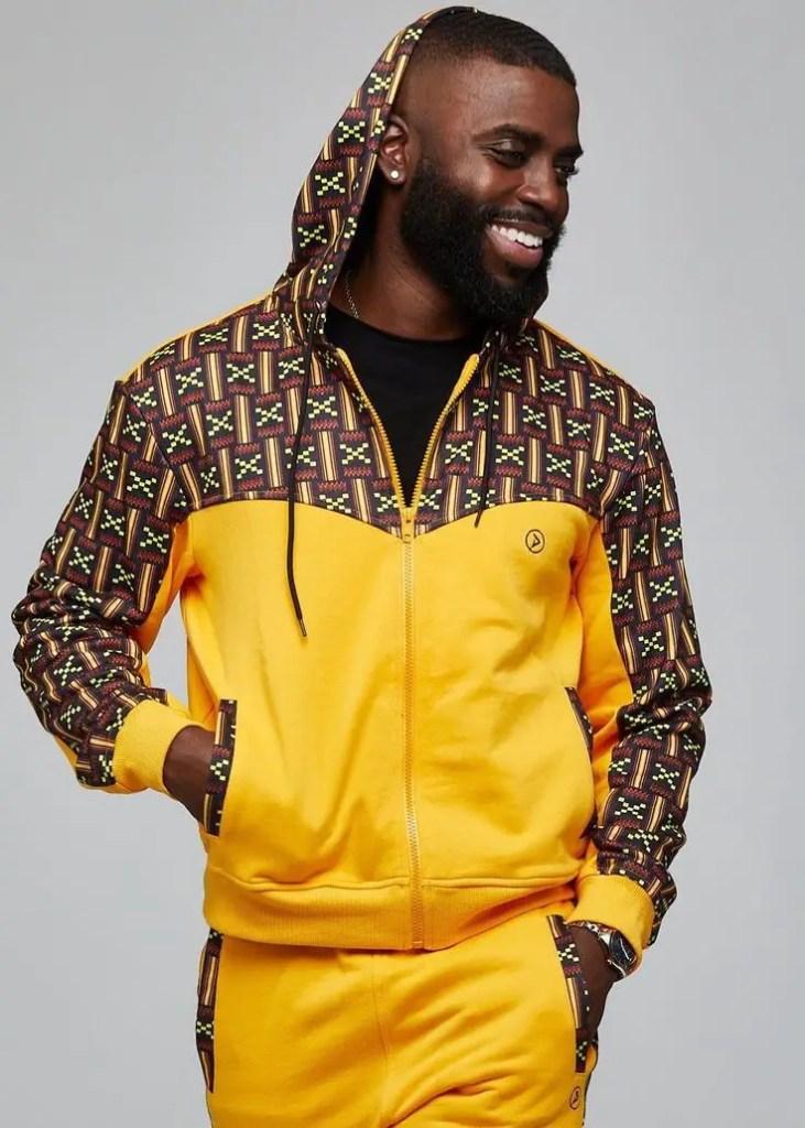 smiling black man rocking activewear