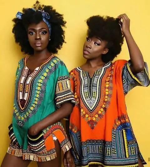 2 beautiful ladies in dashiki tops