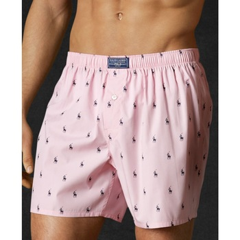 pink boxer shorts on a man