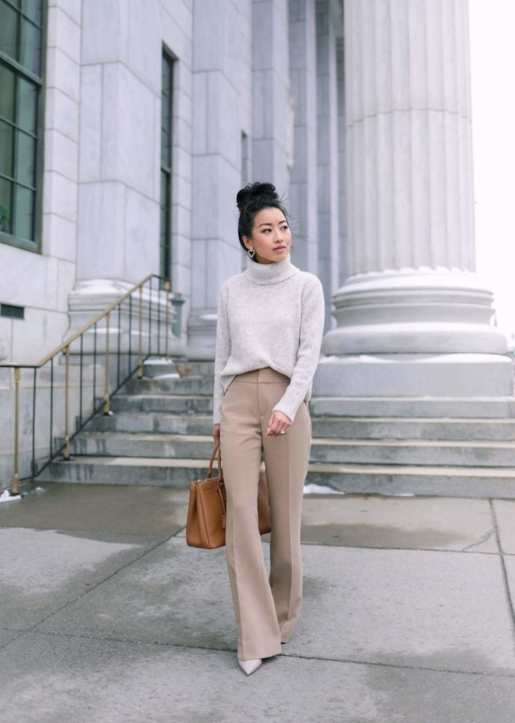 lady in a business casual outfit