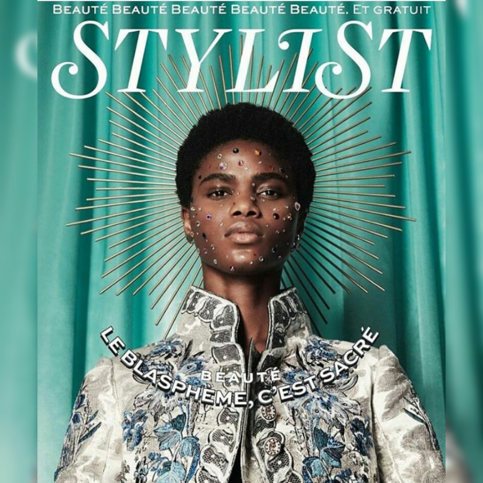 Isis Model Africa model on the cover of the STYLIST