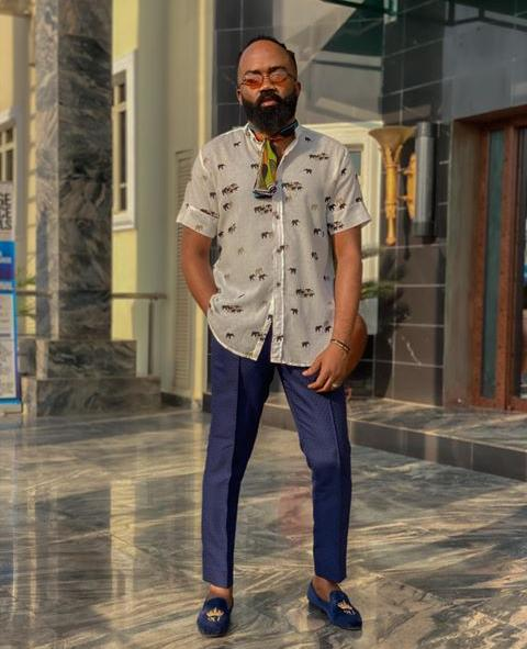 Noble Igwe in a smart casual outfit