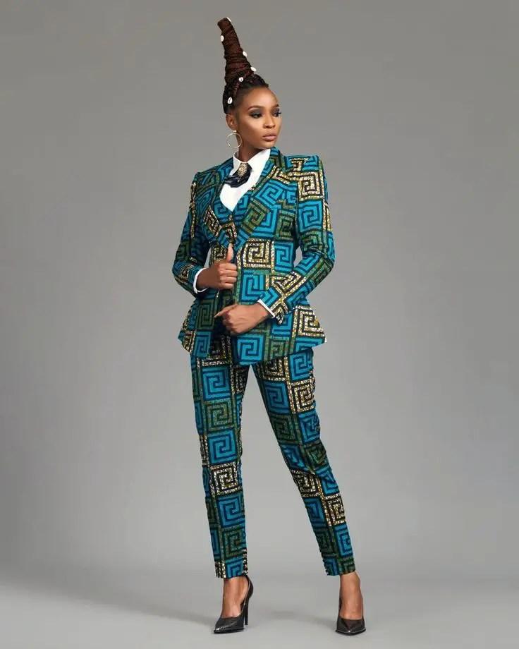 a boss lady in ankara suit