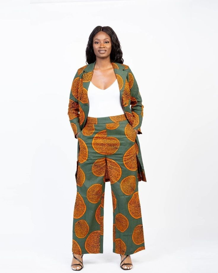 lady in ankara outfit