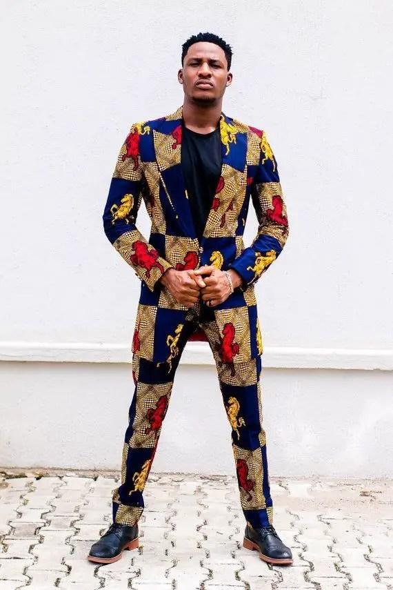 man in ankara suit