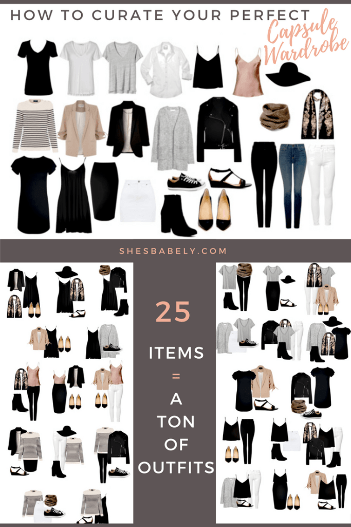 a capsule wardrobe guide infography