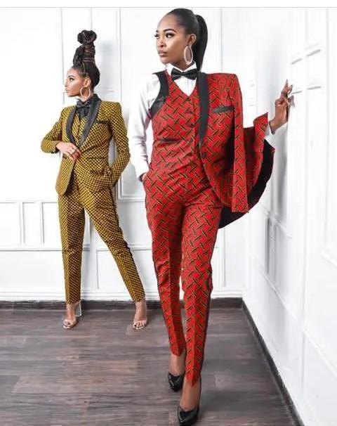 two boss ladies in ankara suits