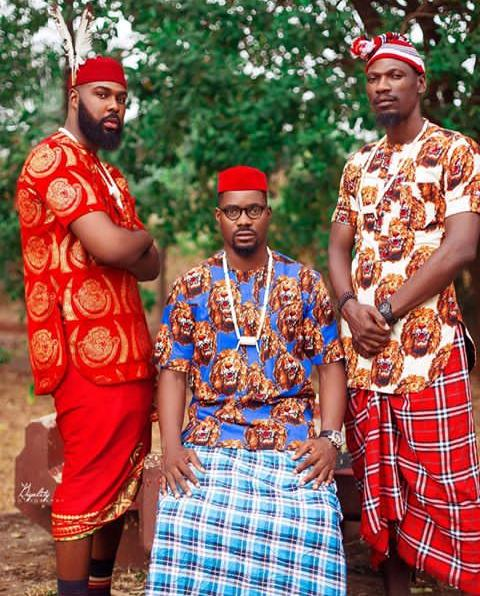 Igbo men wearing Igbo traditional outfits