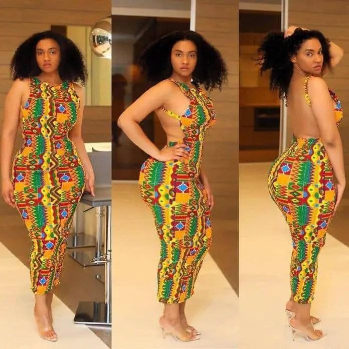 Curvy lady in a beautiful kente jumpsuit