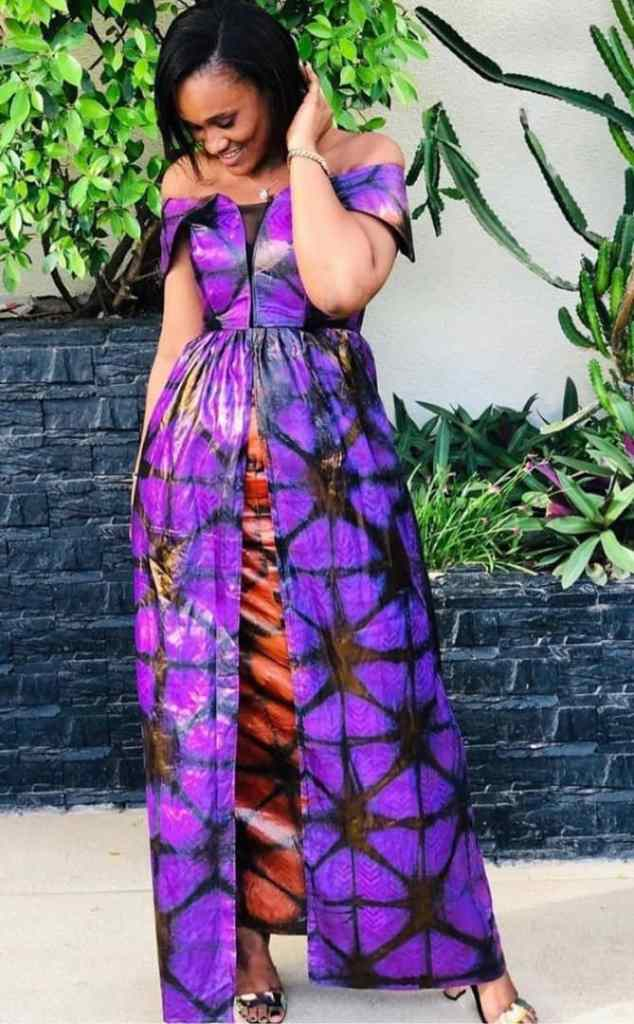lady in adire gown