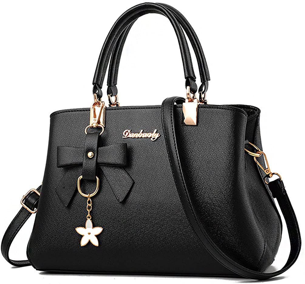 a black satchel handbag