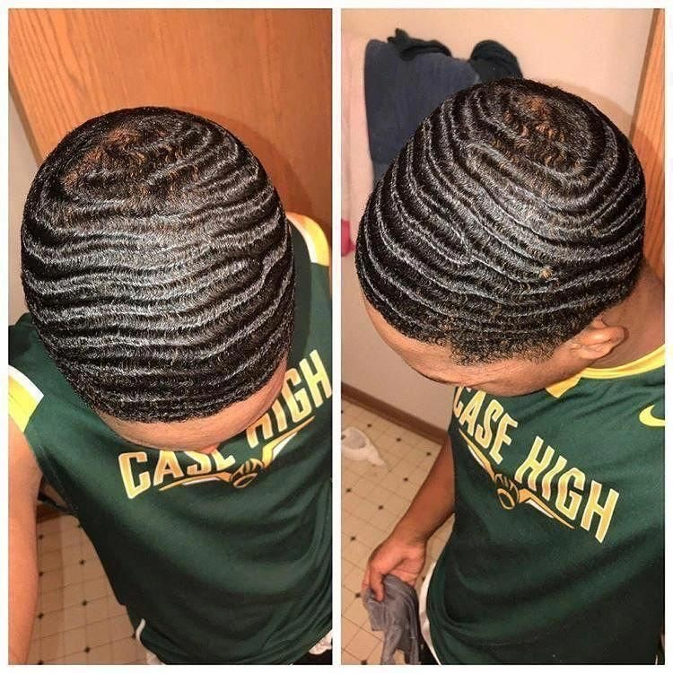 man with 360 waves hair