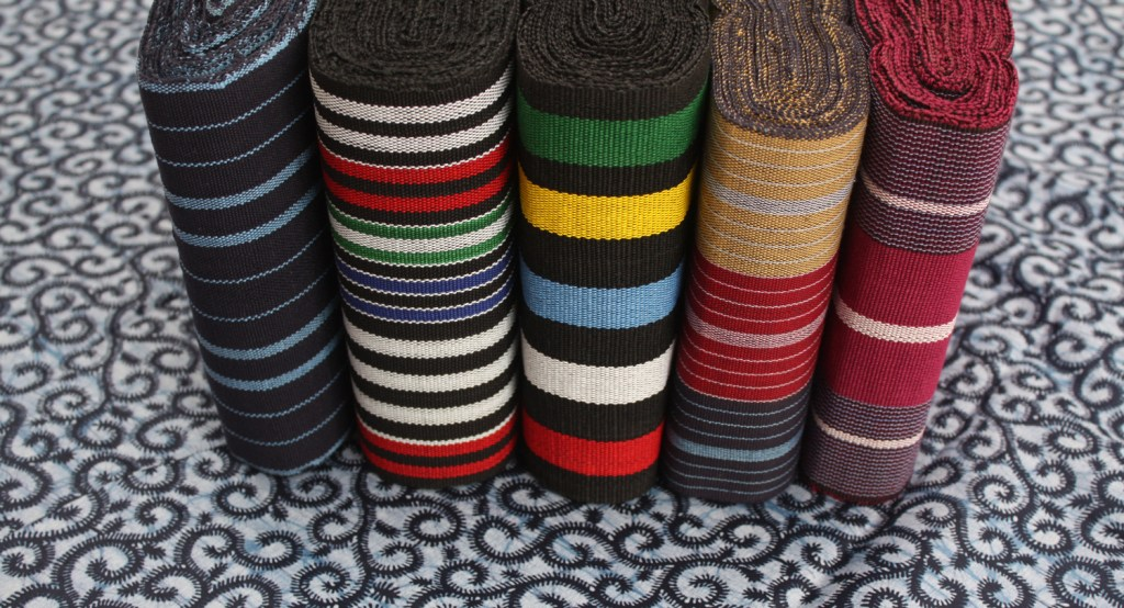 colorful aso oke materials