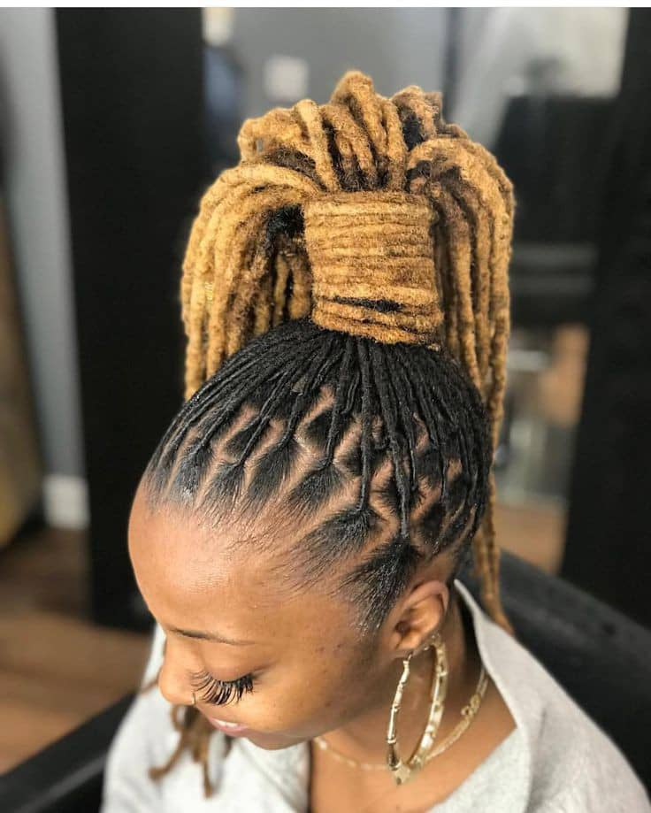 lady wearing dreads as ponytail