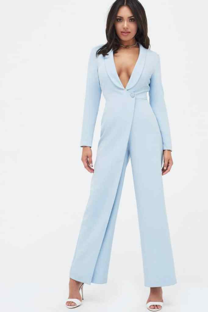 lady wearing jumpsuit for a formal occasion