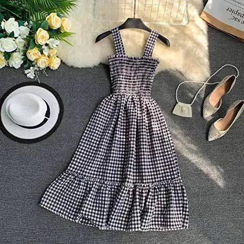 gingham school dress