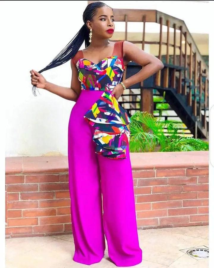 lady rocking mix print jumpsuit