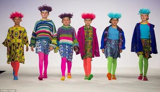 children wearing color riot