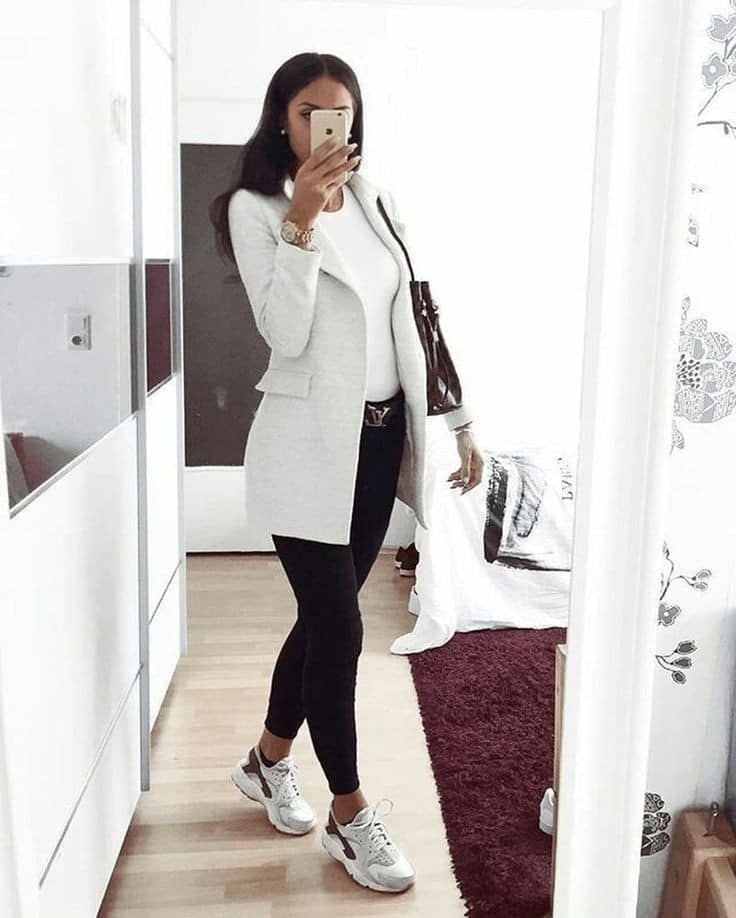 lady dressed in a smart casual way