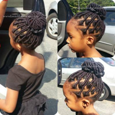 girl wearing thread hairstyle