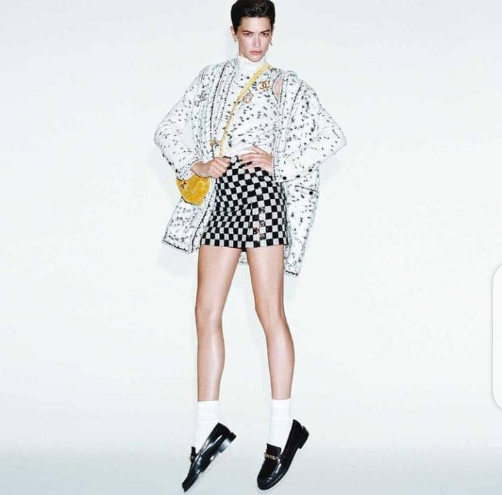 a model in Chanel outfit