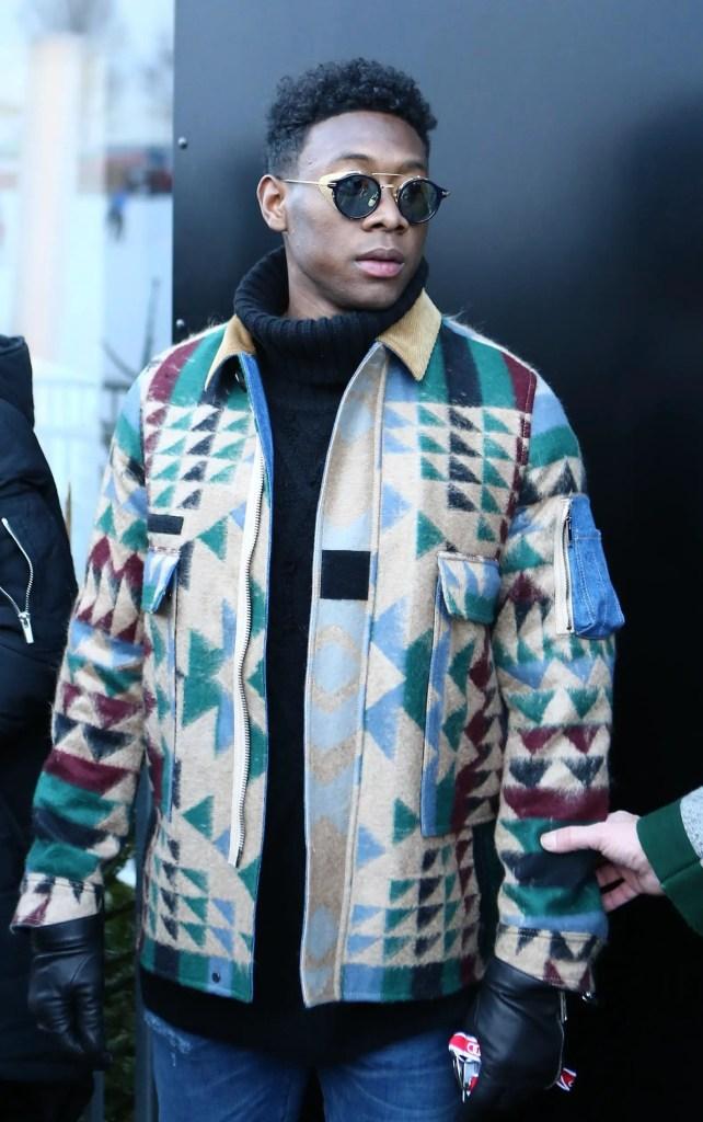 David Alaba donning a colorful jacket
